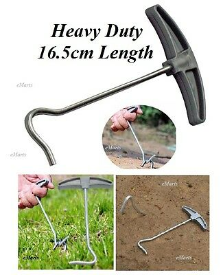 TENT PEG PULLER REMOVER EXTRACTOR STEEL ERGONOMIC CAMPING AWNING CARAVAN PEG NEW