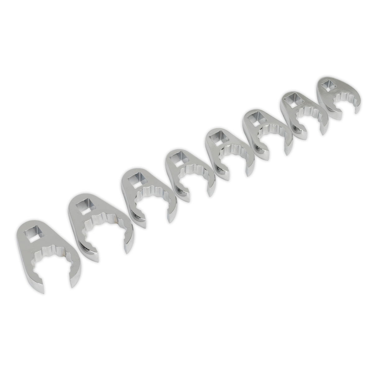 AK5981 Sealey Crow's Foot Spanner Set 8pc 1 2 Sq Drive Metric