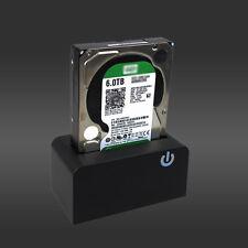 1*PC USB 3.0 SATA Hard Drive Dock 3.5/2.5'' HDD SSD Docking Station Touch Sense