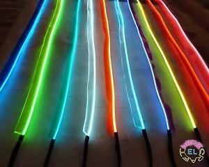 Sewable EL Wire - 5 metre of Tron Glow Wire + Easy Sew Tag Strip ...