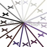 Handmade 7mm Satin Bows and Matching Berisfords Ribbon- White Black Purple Brown