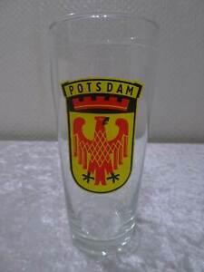 DDR-Vaso-de-Cerveza-Potsdam-Escudo-Vintage-Anuncio-Publicidad-Recuerdo