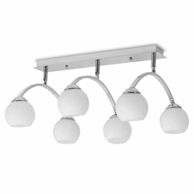 vidaXL Plafonnier pour 6 Ampoules Lampe Suspendue Eclairage Salon Maison