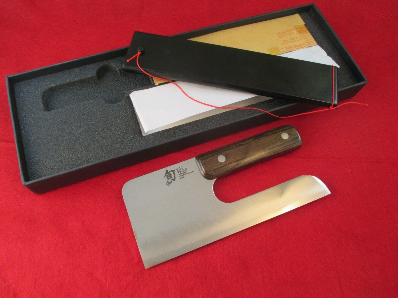 Shun Blau 7 inch Menkiri Knife with Saya - VG0009
