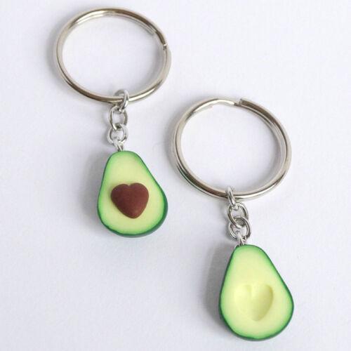 Avocado Ellipse Heart Shaped Pottery Clay Fruit Core Pendant Necklace L