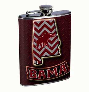 Alabama Bama 8oz Flask FanMade Stainless Steel Drinking