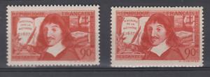 FRANCE-1938-YT-341-342-les-2-DESCARTES-N-MNH-NSC-COTE-16-DE-SUR-LA-METHODE