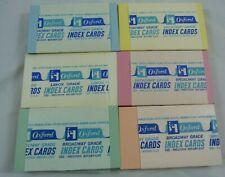 Vintage Oxford Broadway Grade Pastel Filing Index Note Cards Nos Lot Unlined Lot
