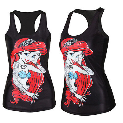 Women Tank Tops Vest Boho Blouse Gothic Punk Party Clubwear Sleeveless Shirts