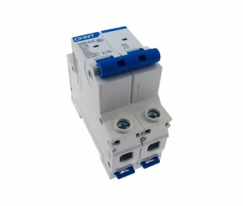 CHNT Double Pole AC230//400V Circuit Breaker Din rail mounting New 16A