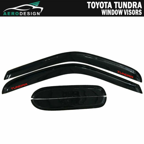 Fit 00-06 Toyota Tundra Extended Cab Guard Window Visor Slim Rain Snow Deflector