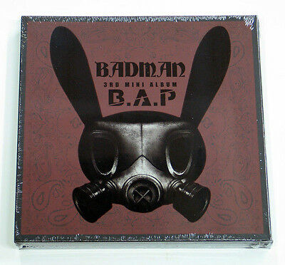 B.A.P BAP - Badman (3rd Mini Album) CD+Matokki Stencil+Photocard+Gift Photo