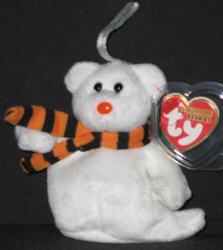 MINT with MINT TAGS TY QUIVERS the GHOST HALLOWEENIE BEANIE BABY