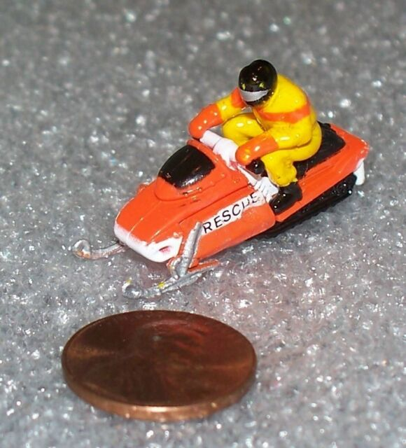 Micro Machines SNOWMOBILE with RIDER miniature  NEW