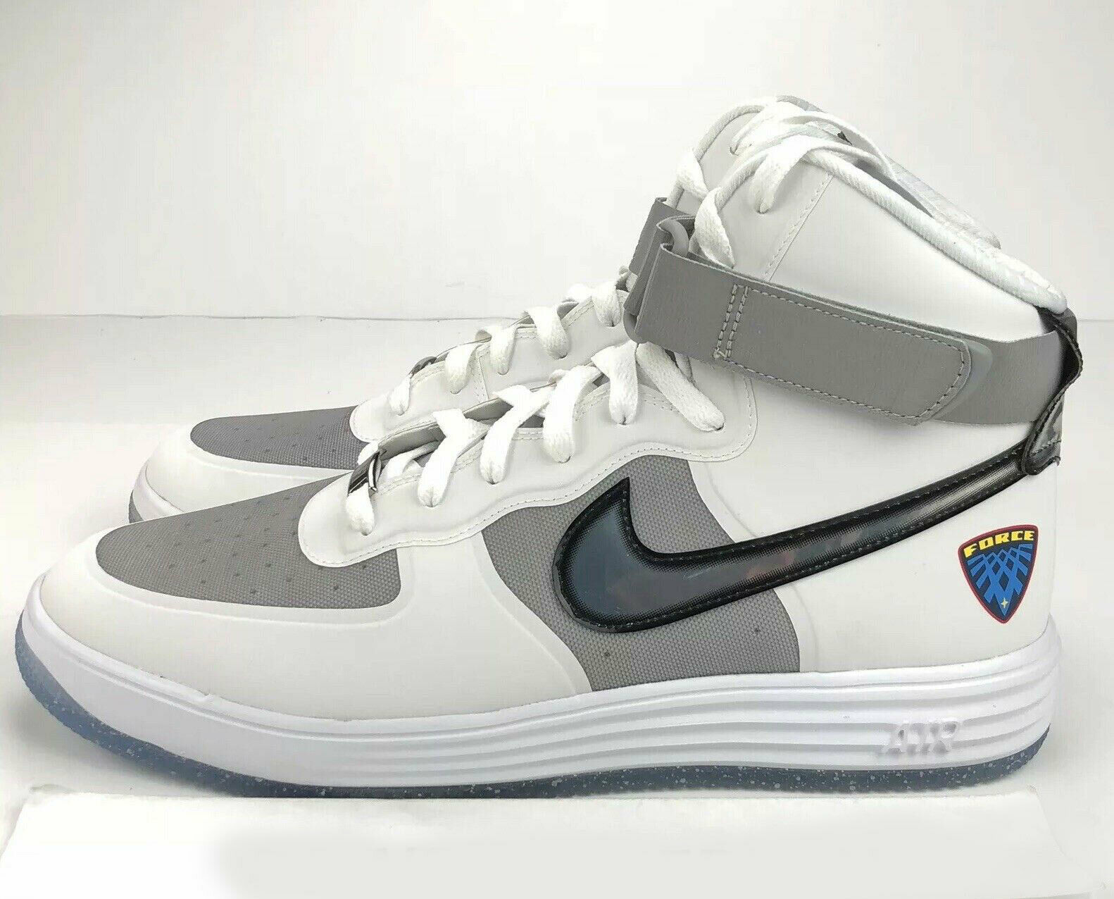Nike Lunar Force 1 Hi WOW QS Nasa Men's 13 Flight White Silver 3M 632359 100