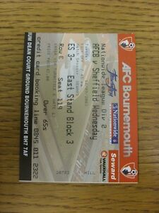 16092003 Ticket Bournemouth v Sheffield Wednesday Trusted sellers on ebay bo - Birmingham, United Kingdom - 16092003 Ticket Bournemouth v Sheffield Wednesday Trusted sellers on ebay bo - Birmingham, United Kingdom