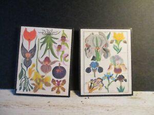 2 Maison De Poupées Miniature Vintage Botanique Photos W4-afficher Le Titre D'origine Magasin En Ligne