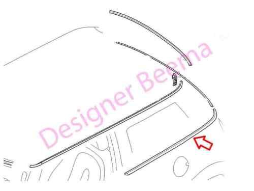 MINI R50 R53 REAR SIDE Window Chrome Trim RIFINITORE-sinistra JS