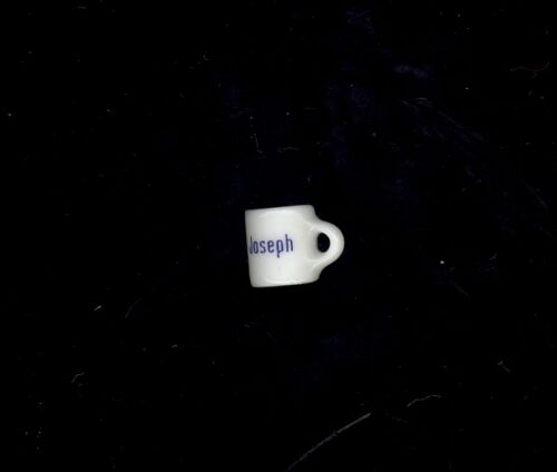 Miniature Coffee Cup Personalized Joseph Dollhouse Charm Stocking Stuffer Crafts