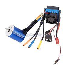 3650 3900KV 4P Sensorless Brushless Motor with 45A Brushless ESC for 1/10 RC