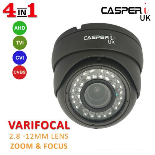 CASPERi 1080p 2.0MP Full HD CCTV Dome Camera 2.8mm 12mm VariFocal Lens 30M IR