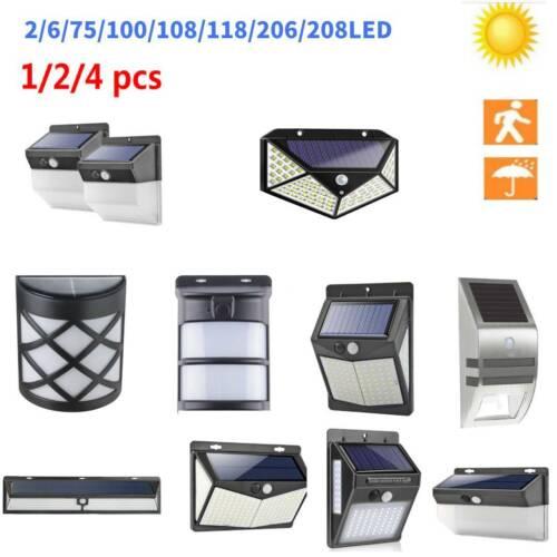 1//2//4 Pcs 75-208LED Outdoor Solar Power Motion Sensor Wall Light Security Lamp