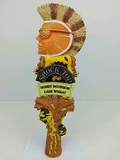 "Large 12"" Shock Top Honey Bourbon Cask Wheat Beer Tap Handle, Man Cave, Bar"