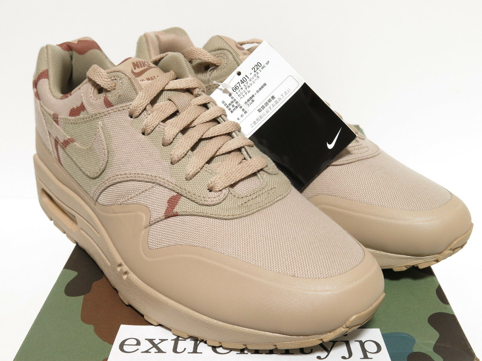 DS 2018 Nike Air Max 1 MC MC MC SP usa Camo arena / arena Bison 667401-220 reducción de precio liquidación estacional d540ef