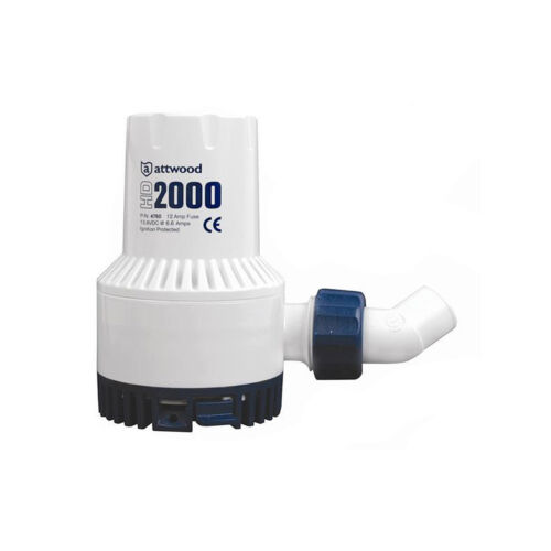 ATTWOOD HEAVY DUTY HD2000 BILGE PUMP 12V 2000 GPH
