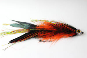 Orange-amp-Black-Articulated-Muskie-Pike-Big-Bass-fly