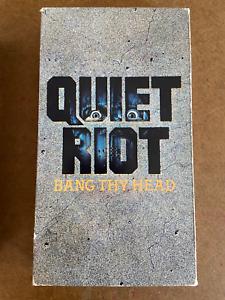 Quiet-Riot-Bang-Thy-Head-1986-Rare-VHS-Hair-Metal-FREE-SHIPPING