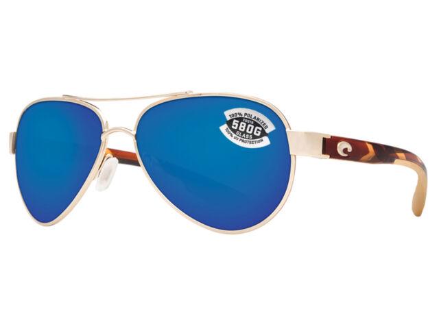 4601dce707862 Costa Del Mar Loreto LR 64 Rose Gold Square Sunglasses Blue 580g for ...