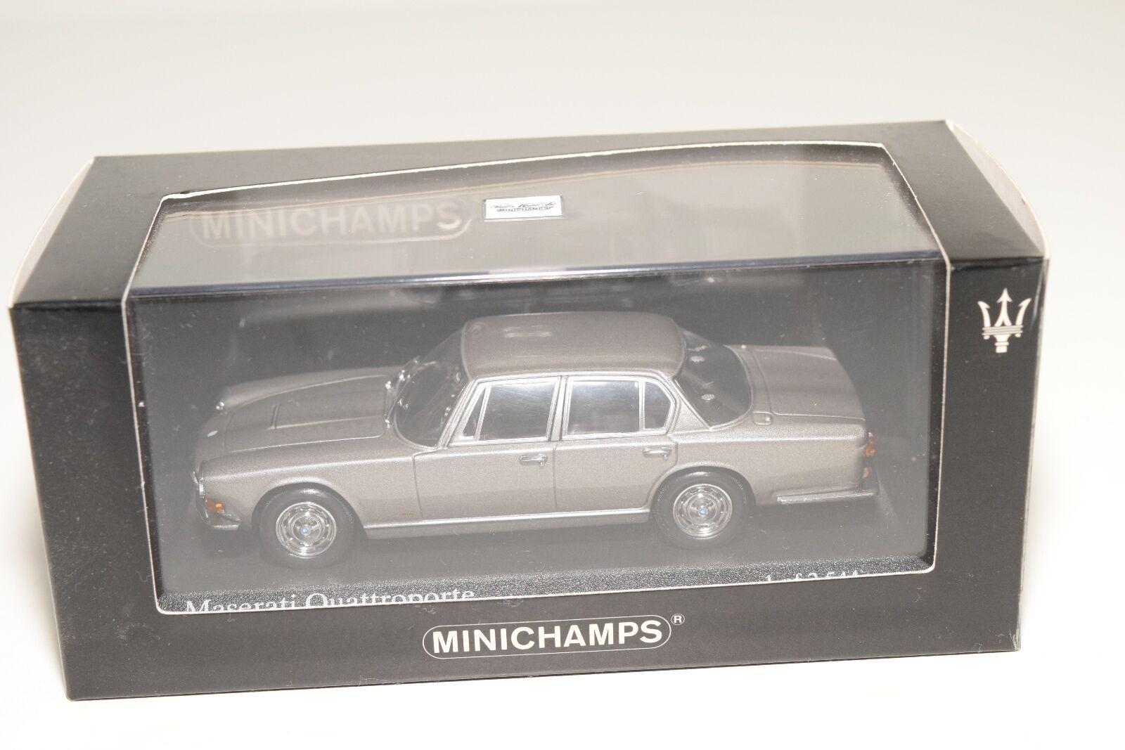 . MINICHAMPS MASERATI QUATTROPORTE 1963 METALLIC grigio MINT BOXED