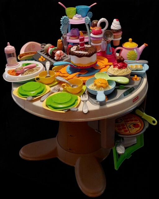 Fisher Price Servin Surprises Kitchen Table For Sale Online Ebay
