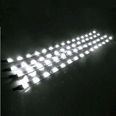4PCS Waterproof 12'' DC 12V Motor LED Tape Strip Underbody Light For Car Truck