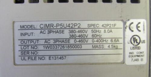 OMRON IDM P5 AC DRIVE 3HP 3 HP 8A CIMR-P5U42P2 CIMRP5U42P2 42P21F