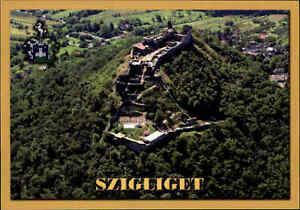 Szigliget-in-UNGARN-Postkarte-Postcard-Luftaufnahme-Ansichtskarte-Luftbild-AK