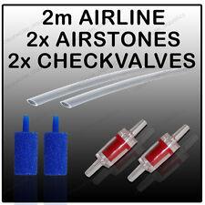 2m Airline Air Stone Check Non Return Valve CV4 Aquarium Air Pump Accessory Kit