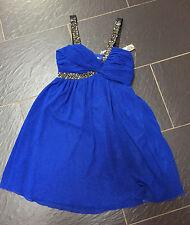 LIPSY COBALT BLUE JEWELLED STRAP BABY DRESS SIZE 8 BRAND NEW £65