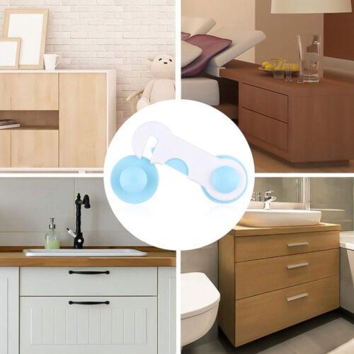 1//5PCS Door Lock Proof Cupboard Fridge Cabinet Prevent Clamp Baby Safety Locks
