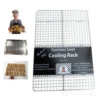 Baking Cooling Rack Kitchen Sheet Oven Candy Pan Bacon Storage Stainless Steel