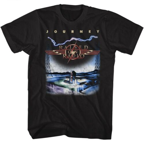Journey Raised On Radio Rock Music Adult T Shirt