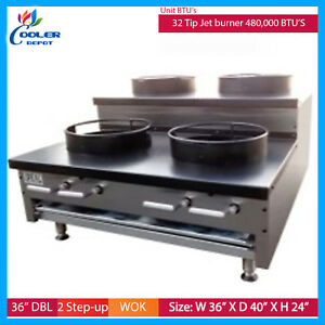 Image Is Loading 36 034 Chinese Wok Countertop Gas Commercial Range