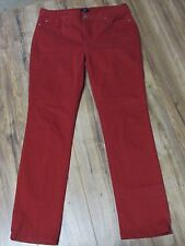 NYDJ Not Your Daughter's Jeans Red Denim Womens 10 X 31 Straight Leg