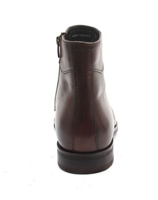 Roberto Pelle Serpentini 19108a Brown Pelle Roberto Shearling Zip-Up Ankle Stivali 45 /   12 a67c60