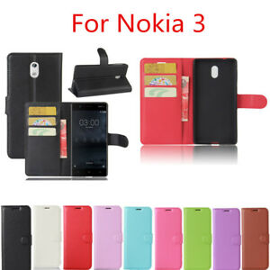 hot sale online 99c41 fc739 Flip PU Leather Fitted Wallet Case Cover For Nokia 3 TA-1032 TA-1020 ...