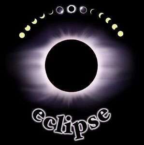 SOLAR-ECLIPSE-T-SHIRT-Size-Adult-LARGE-Science-Astronomy-NEW
