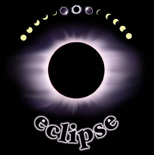 SOLAR ECLIPSE  T-SHIRT.  Size Adult LARGE  Science  Astronomy. NEW.