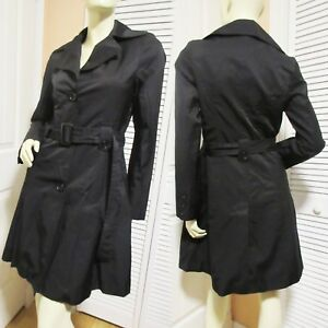 better price entire collection entire collection Details about DKNY Black Trench Coat Trenchcoat Rain Jacket Raincoat sz XS  Womens Winter Coats