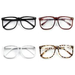1X-Unisex-Retro-Vintage-Big-Frame-Clear-Lens-Plain-Glasses-Photography-Props